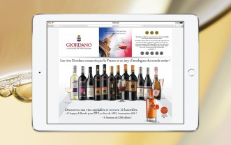 Giordano Vins – Mailing – Web landing page